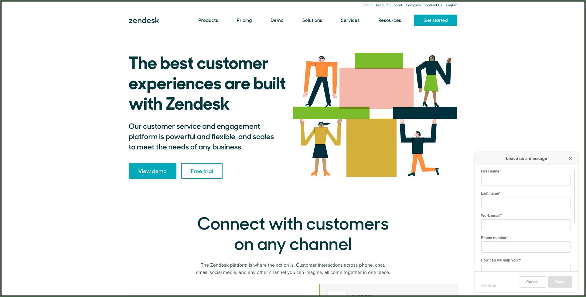 Zendesk website