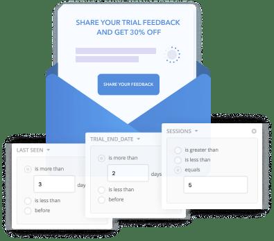 Targeted email messages - HelpCrunch blog