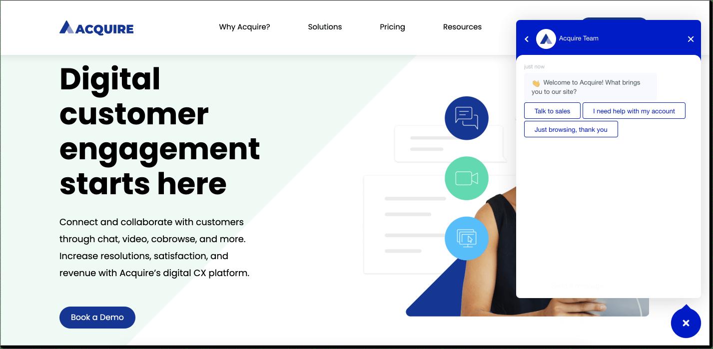 Acquire customer service software