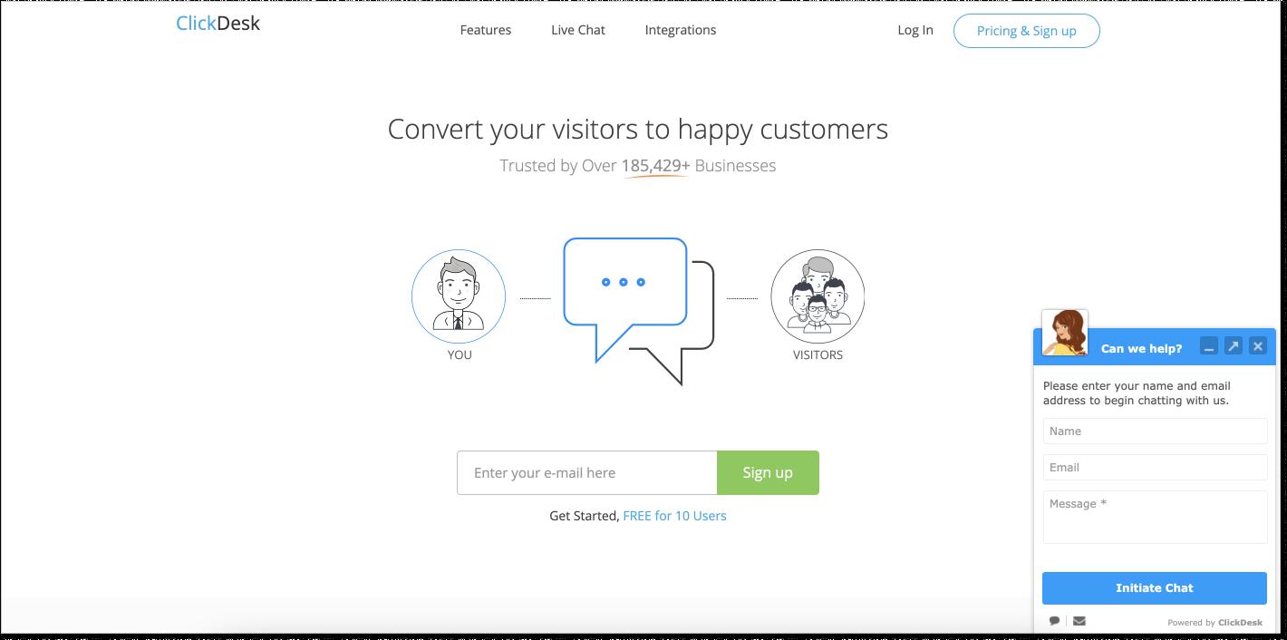 ClickDesk customer service software