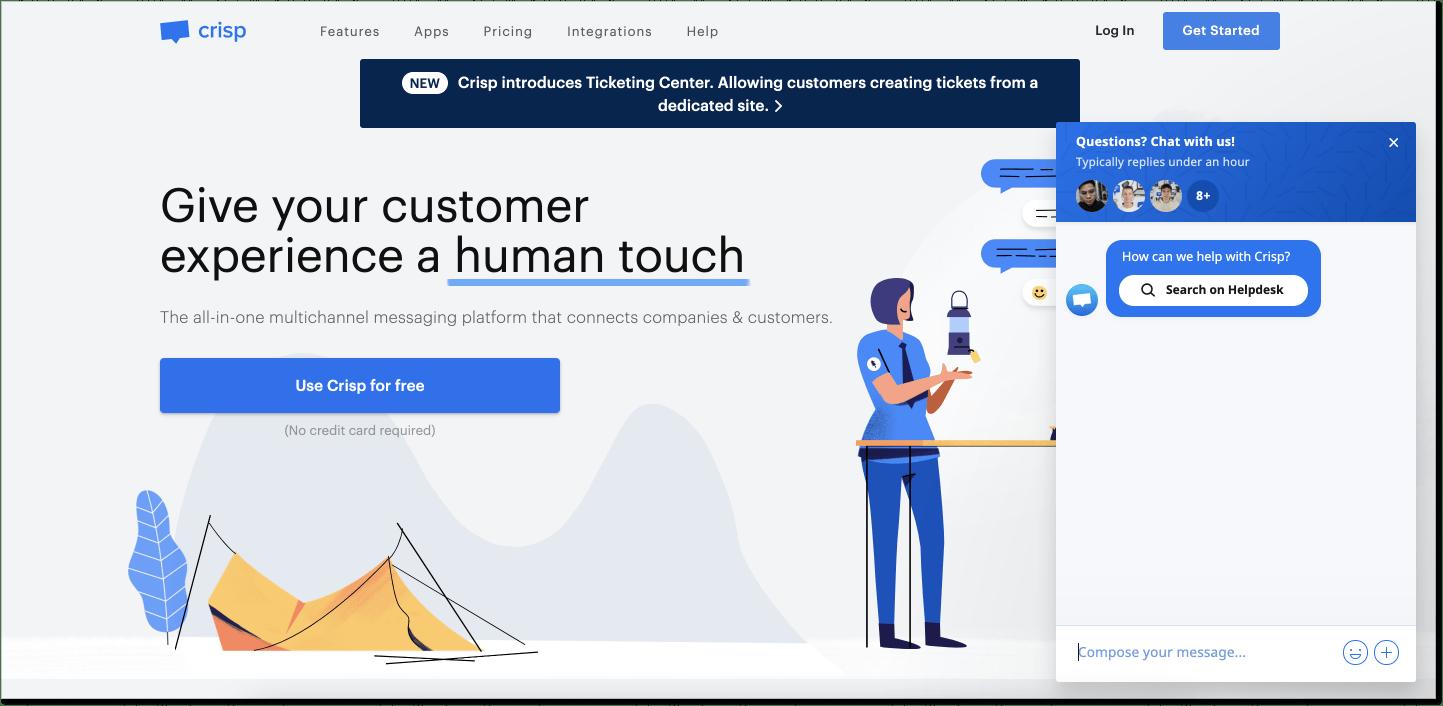 Crisp customer service software