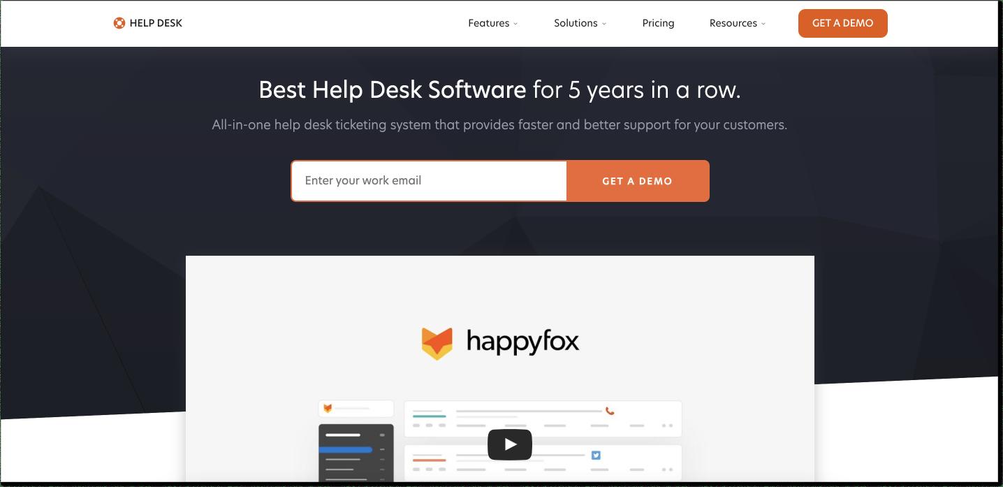 HappyFox customer service software