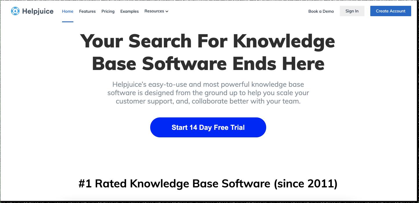 Helpjuice customer service software