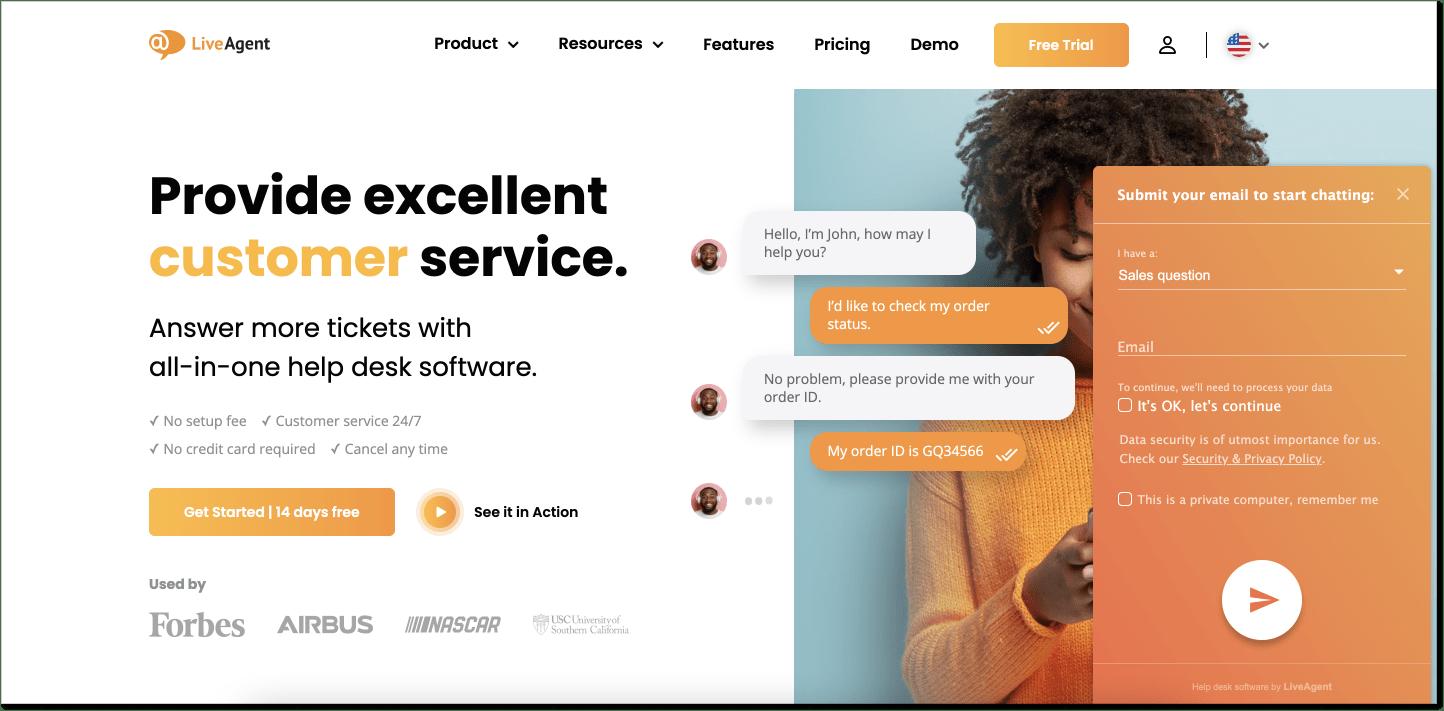 LiveAgent customer service software