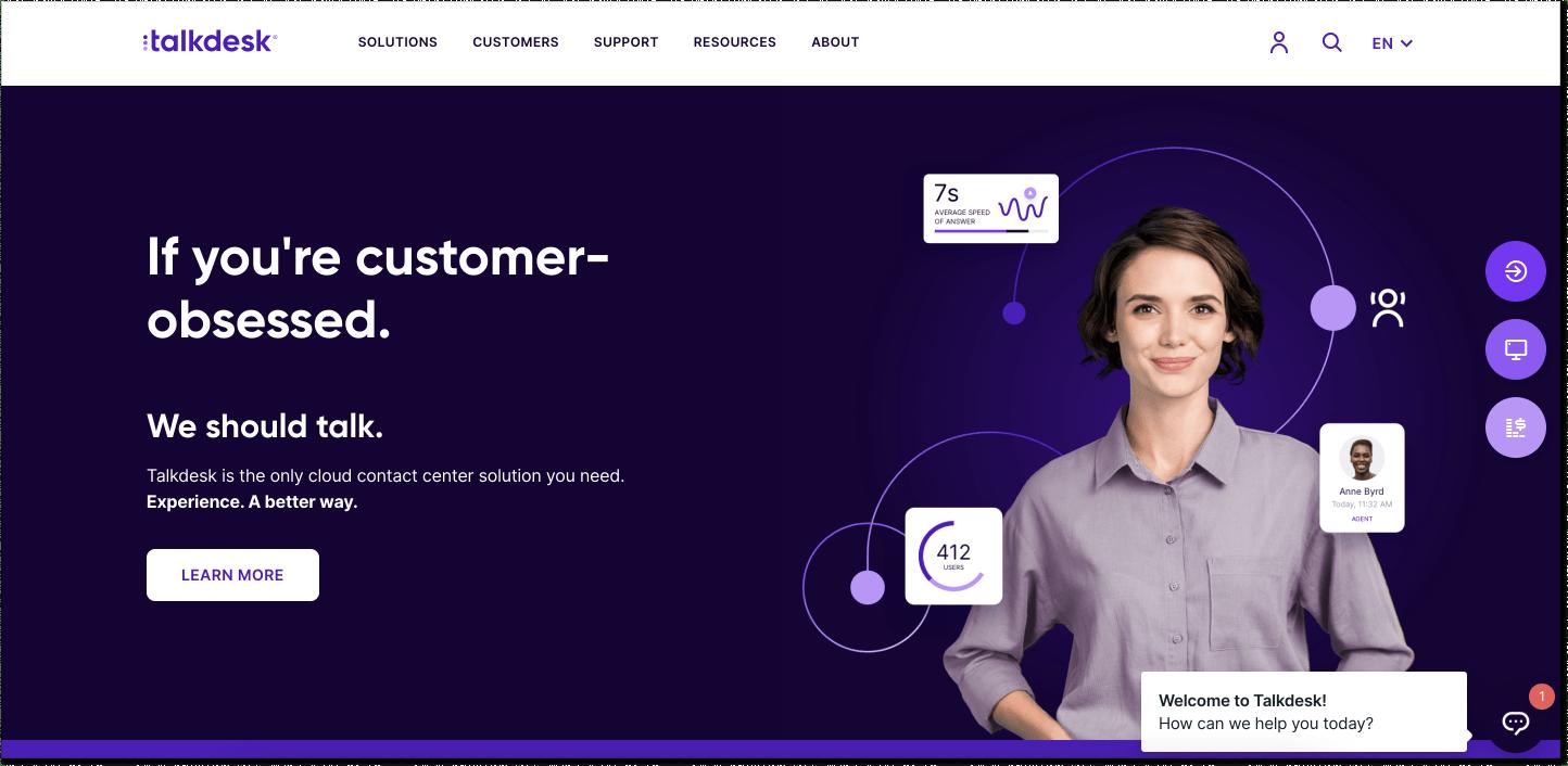 Talkdesk customer service software