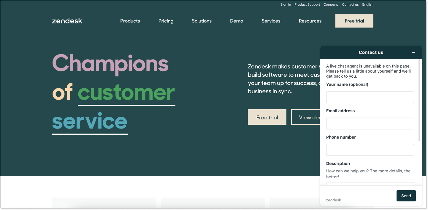 Zendesk customer service software