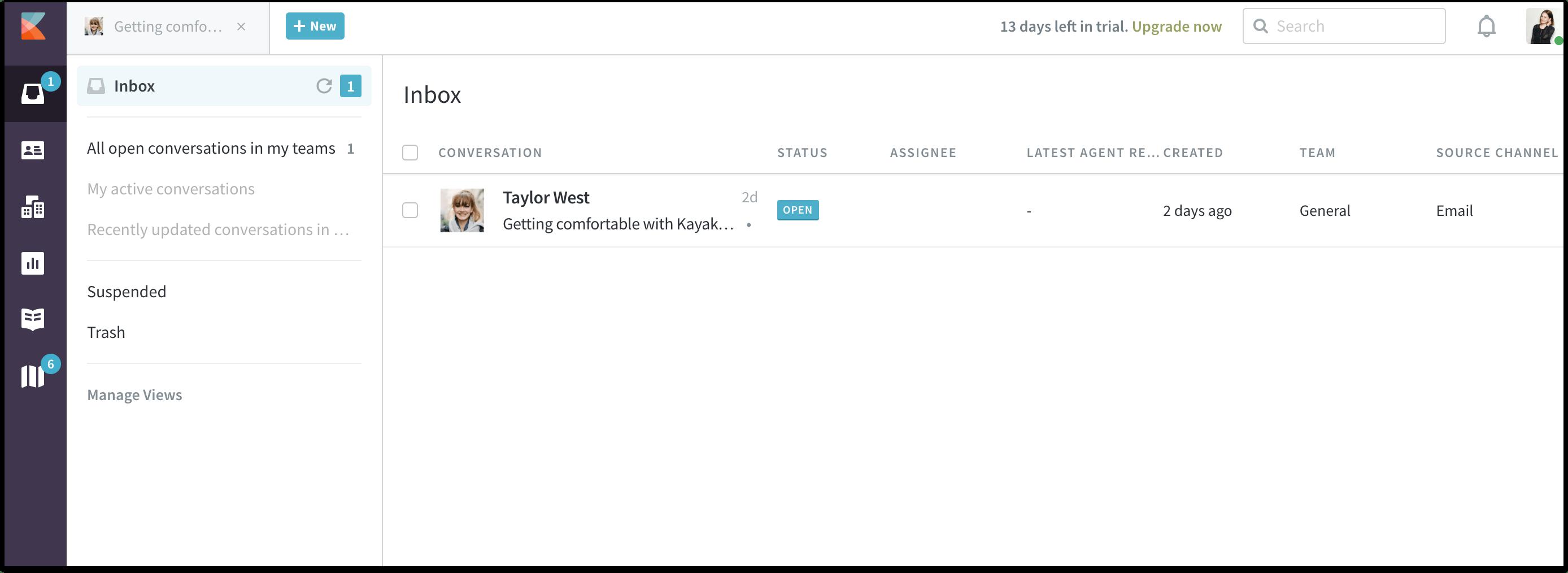 kayako helpdesk inbox