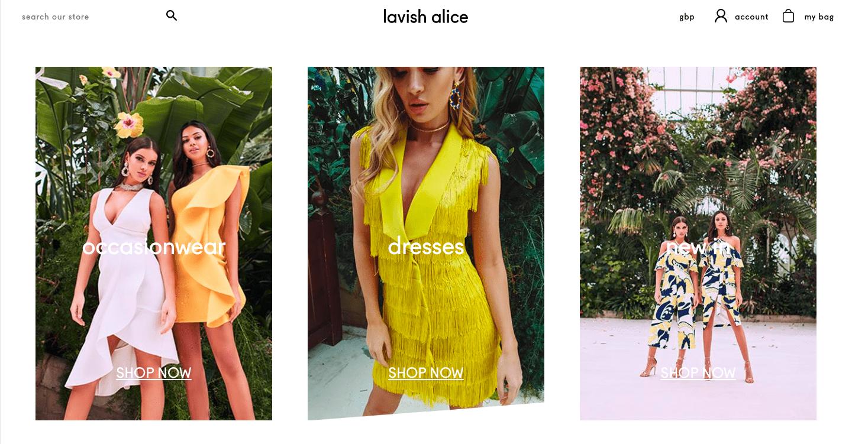 Lavish Alice page design example