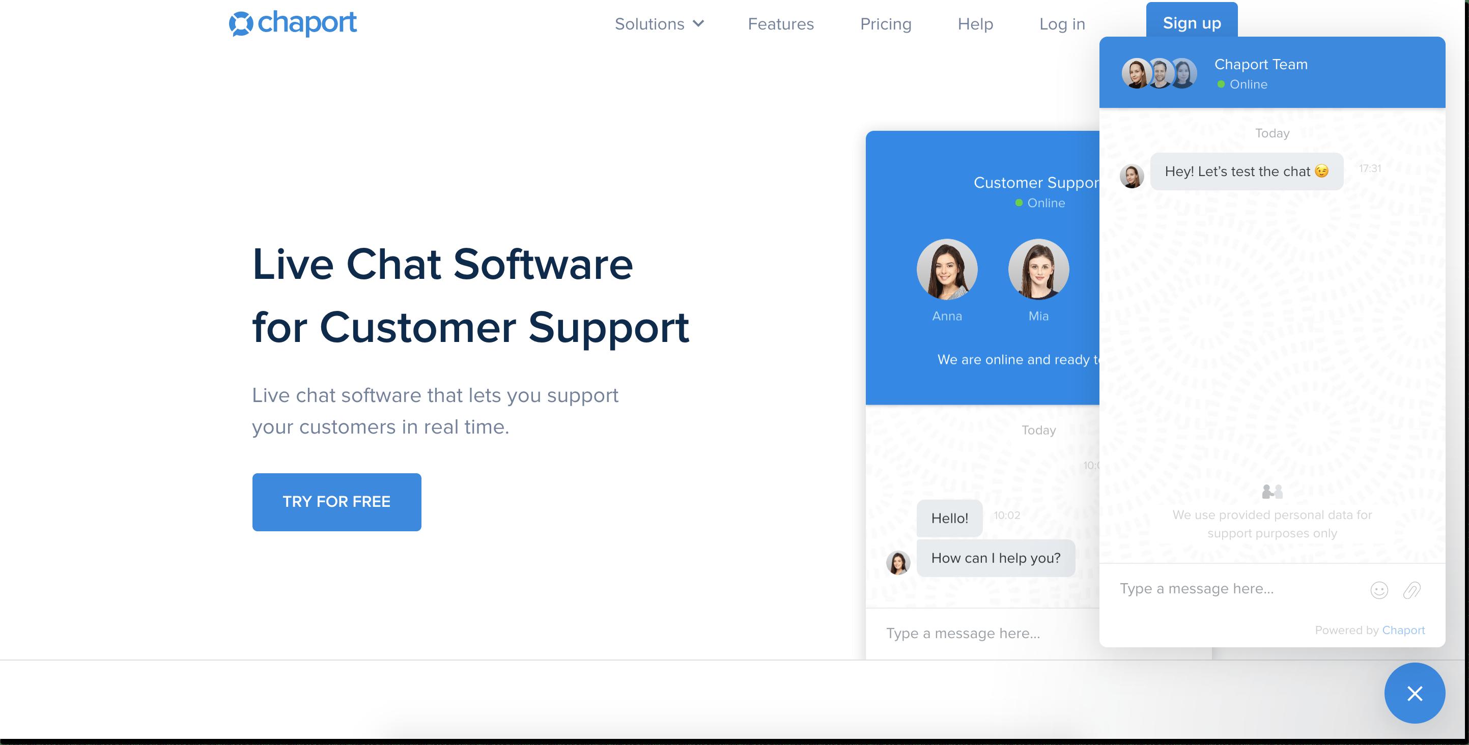 Chaport live chat