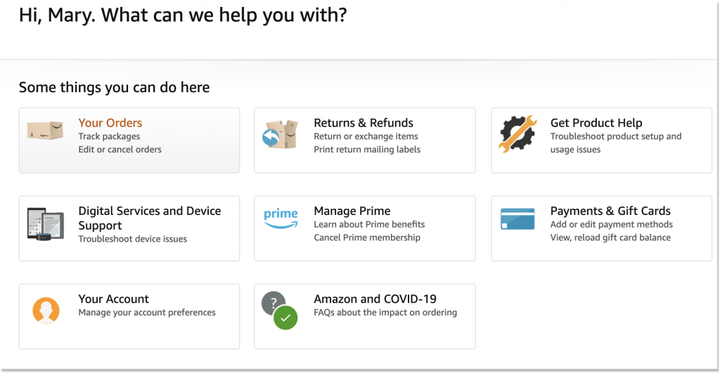 Amazon self-service resources