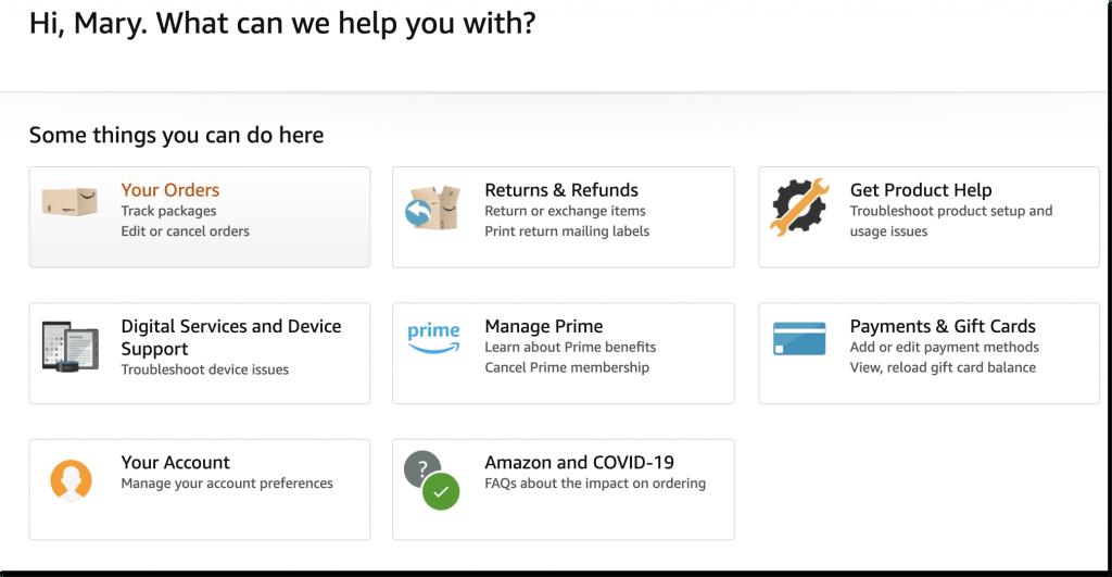 Amazon self-service resources