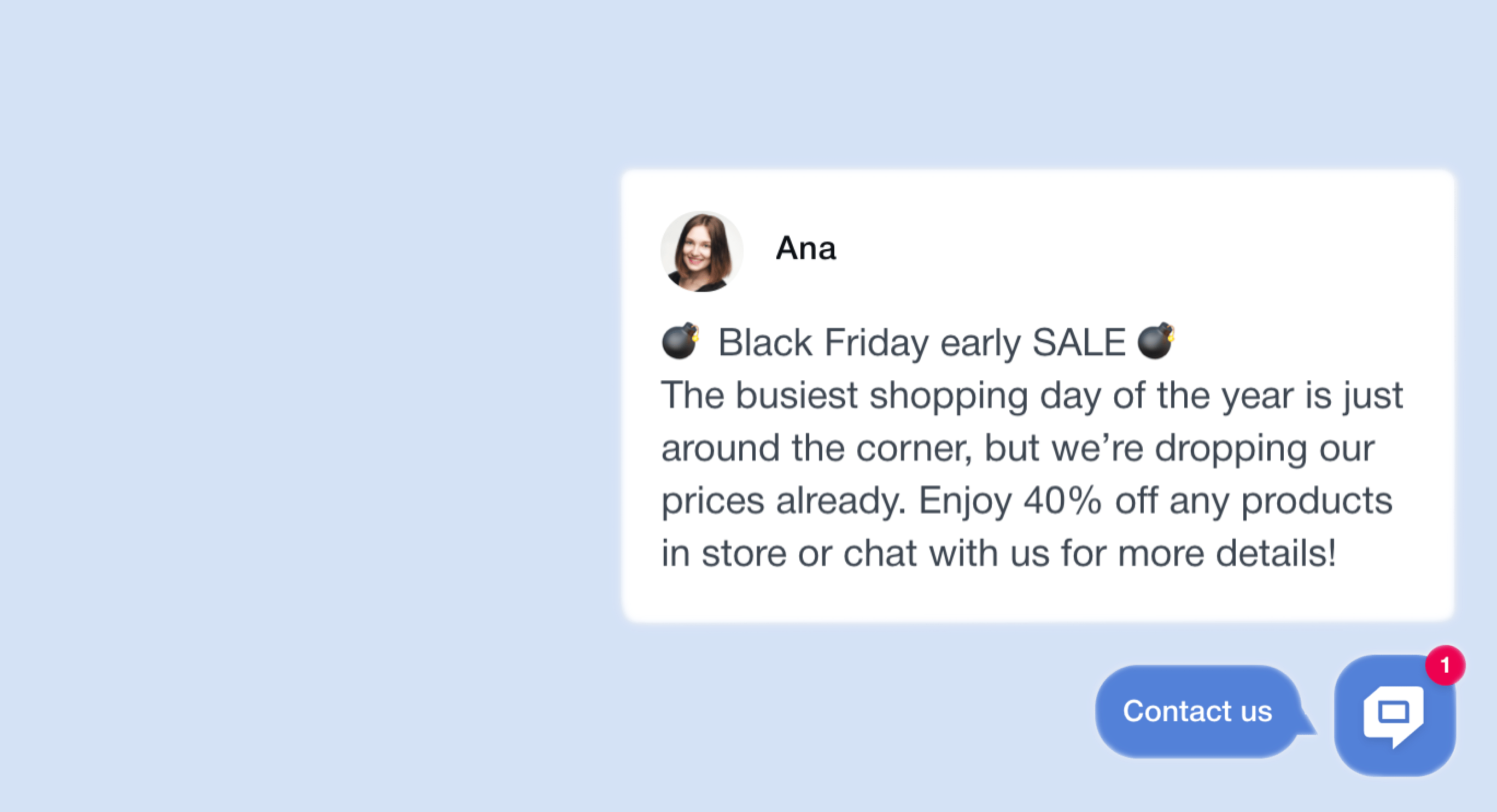 Black Friday proactive chat