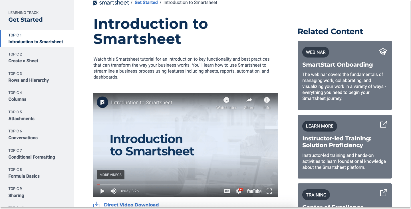 smartsheet knowledge base