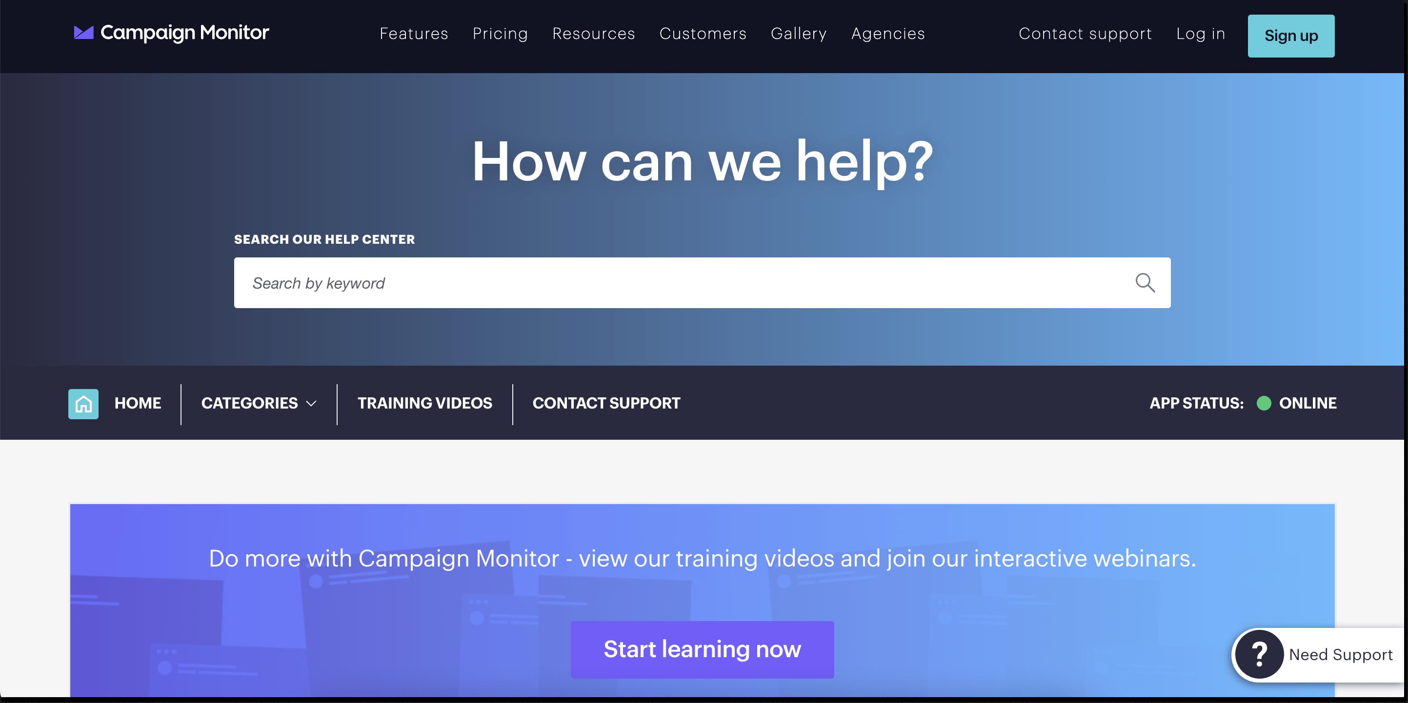 campaign monitor knowledge base