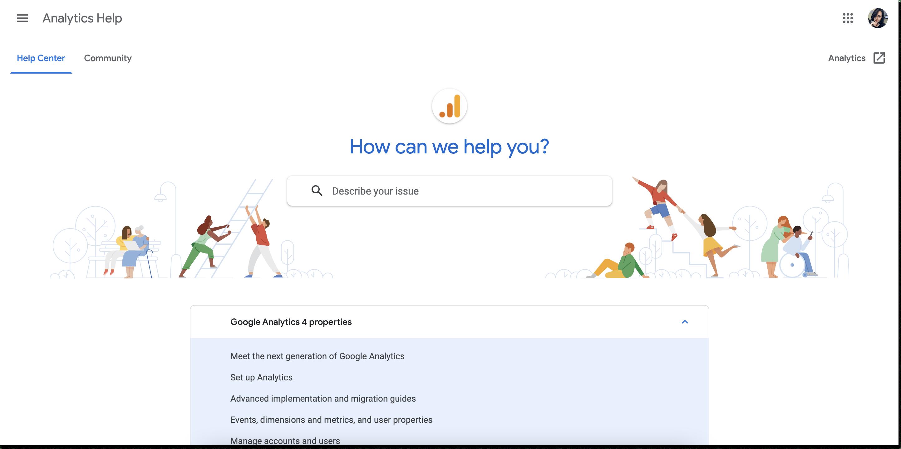 google analytics knowledge base