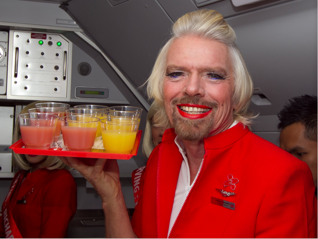 richard branson flight attendant