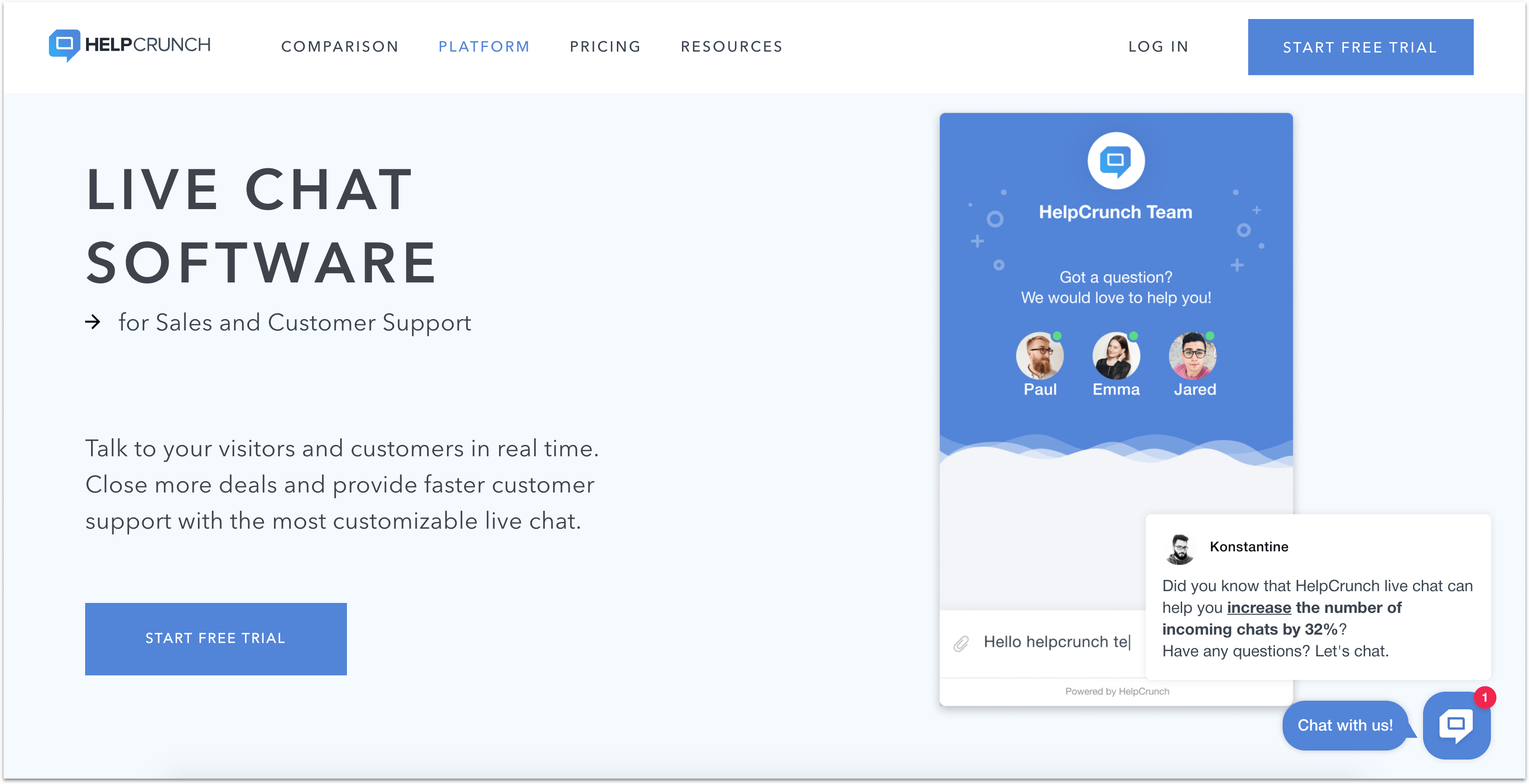 helpcrunch proactive chat