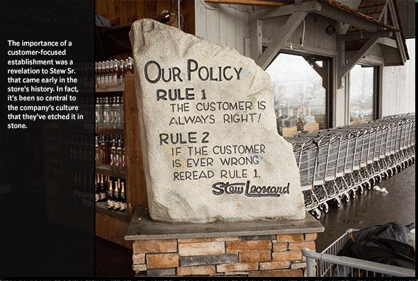 stew leonard policy