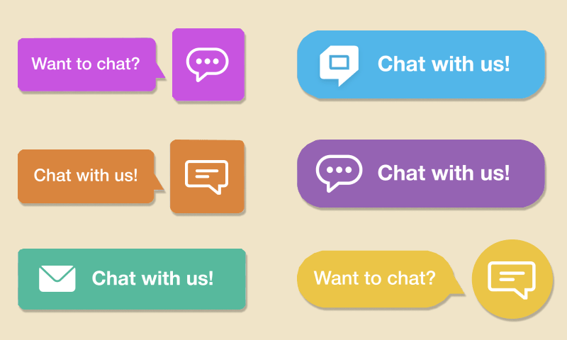HelpCrunch live chat button icons and colors