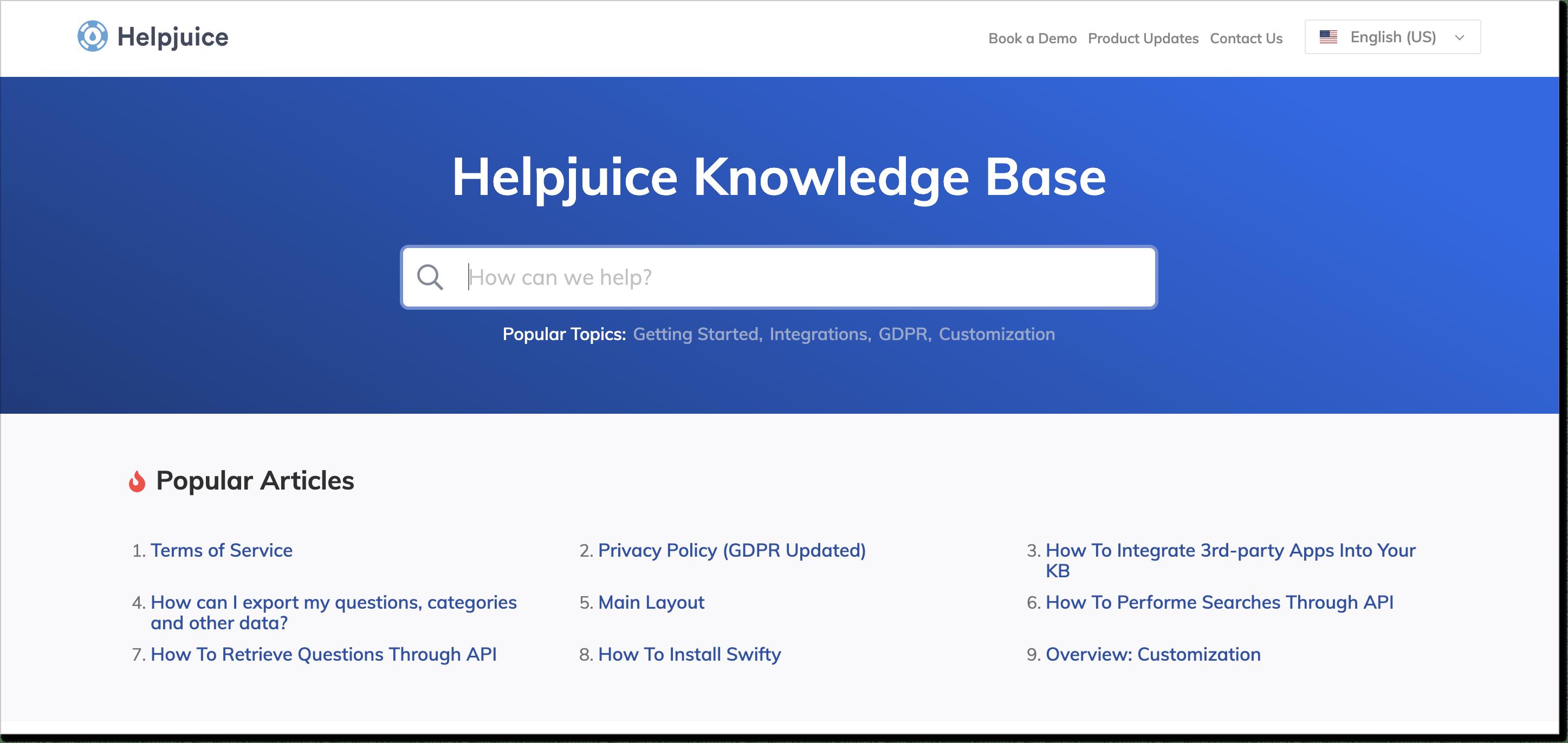 Helpjuice knowledge management software