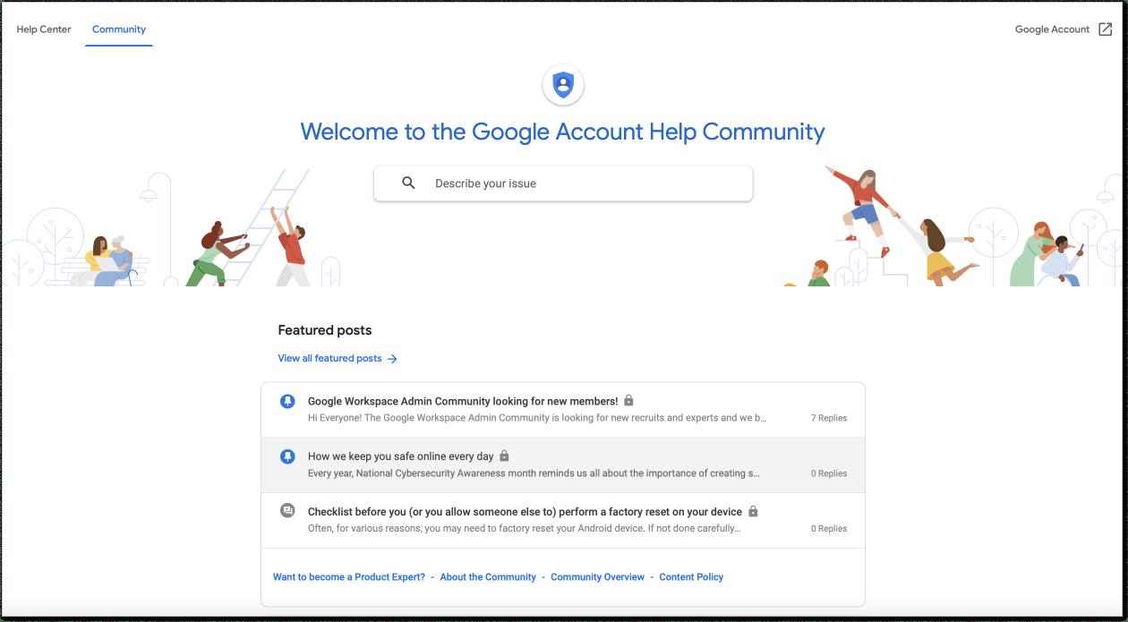 Google Help Community