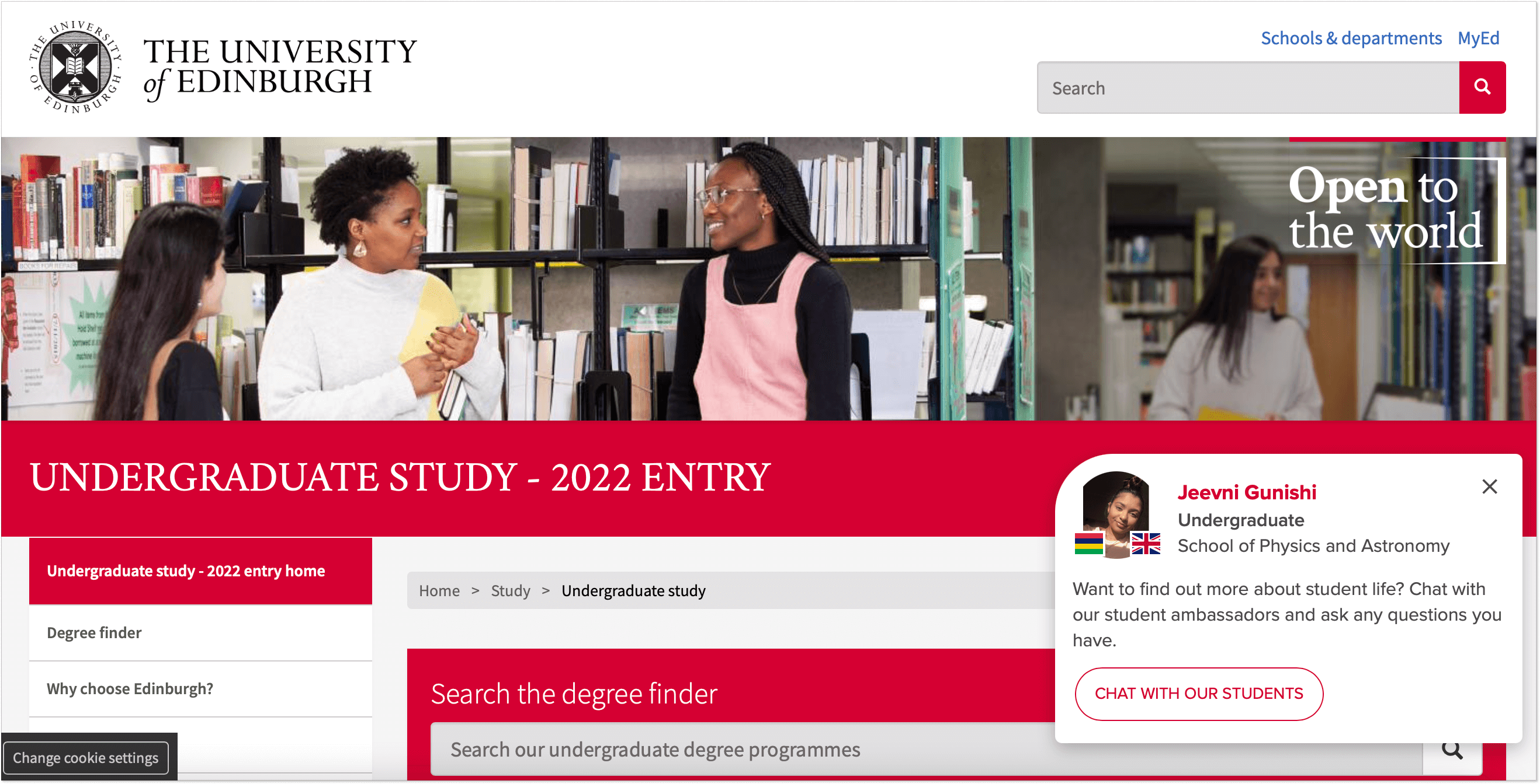 Chat with students_The University of Edinburgh