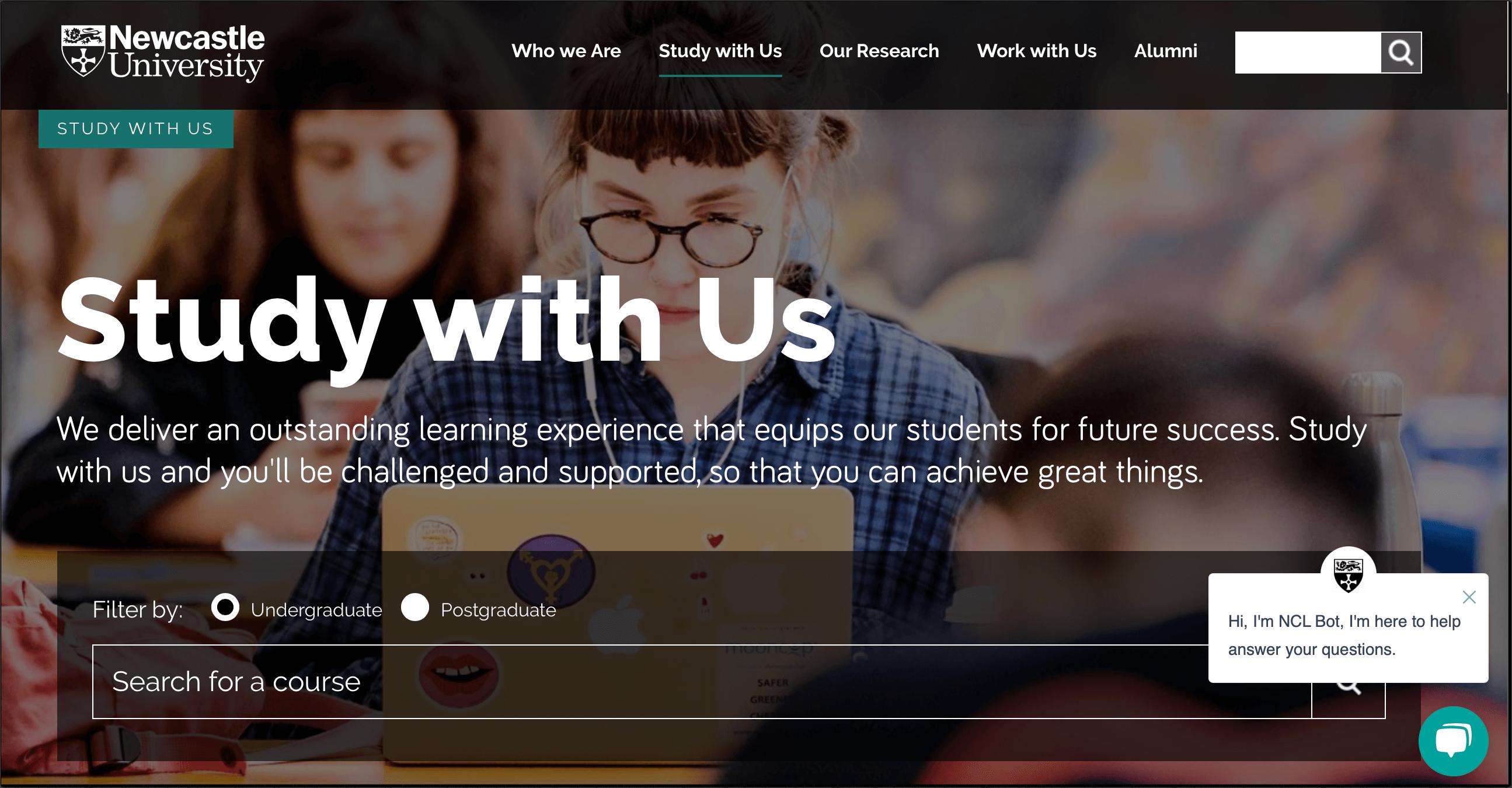Proactive chat_Newcastle university