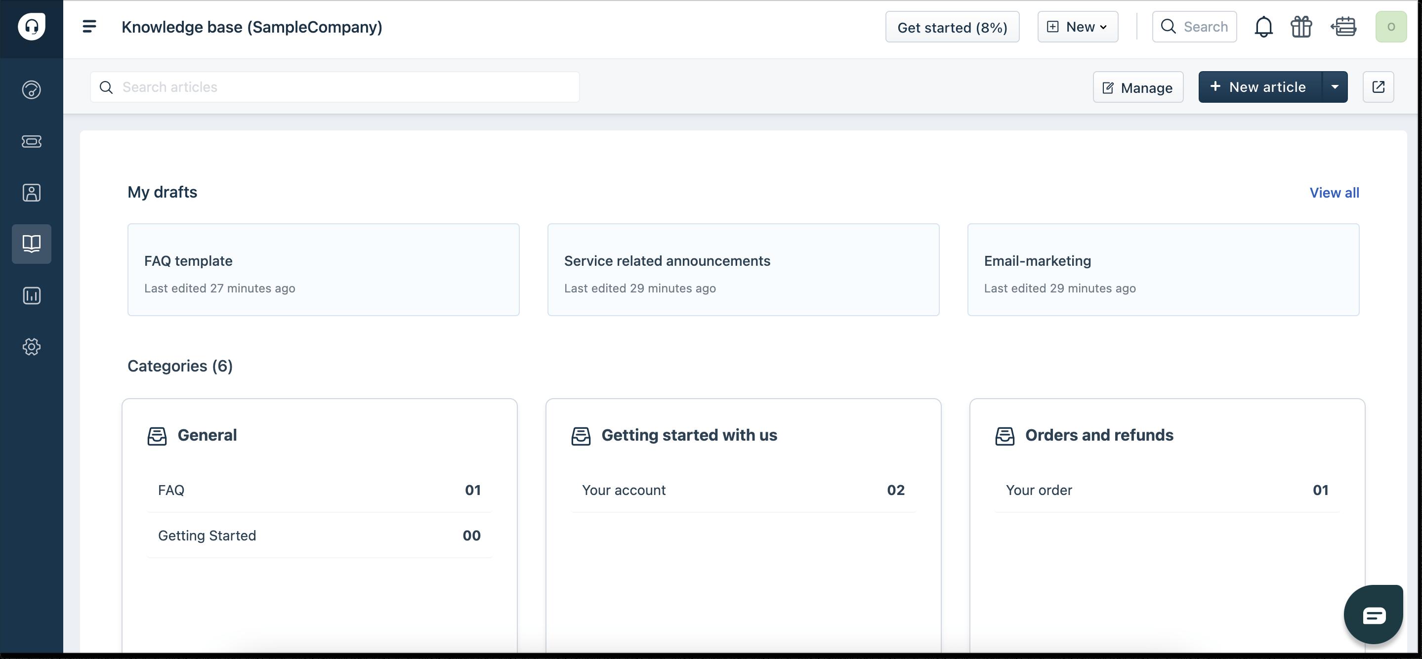 freshdesk self-service knowledge base