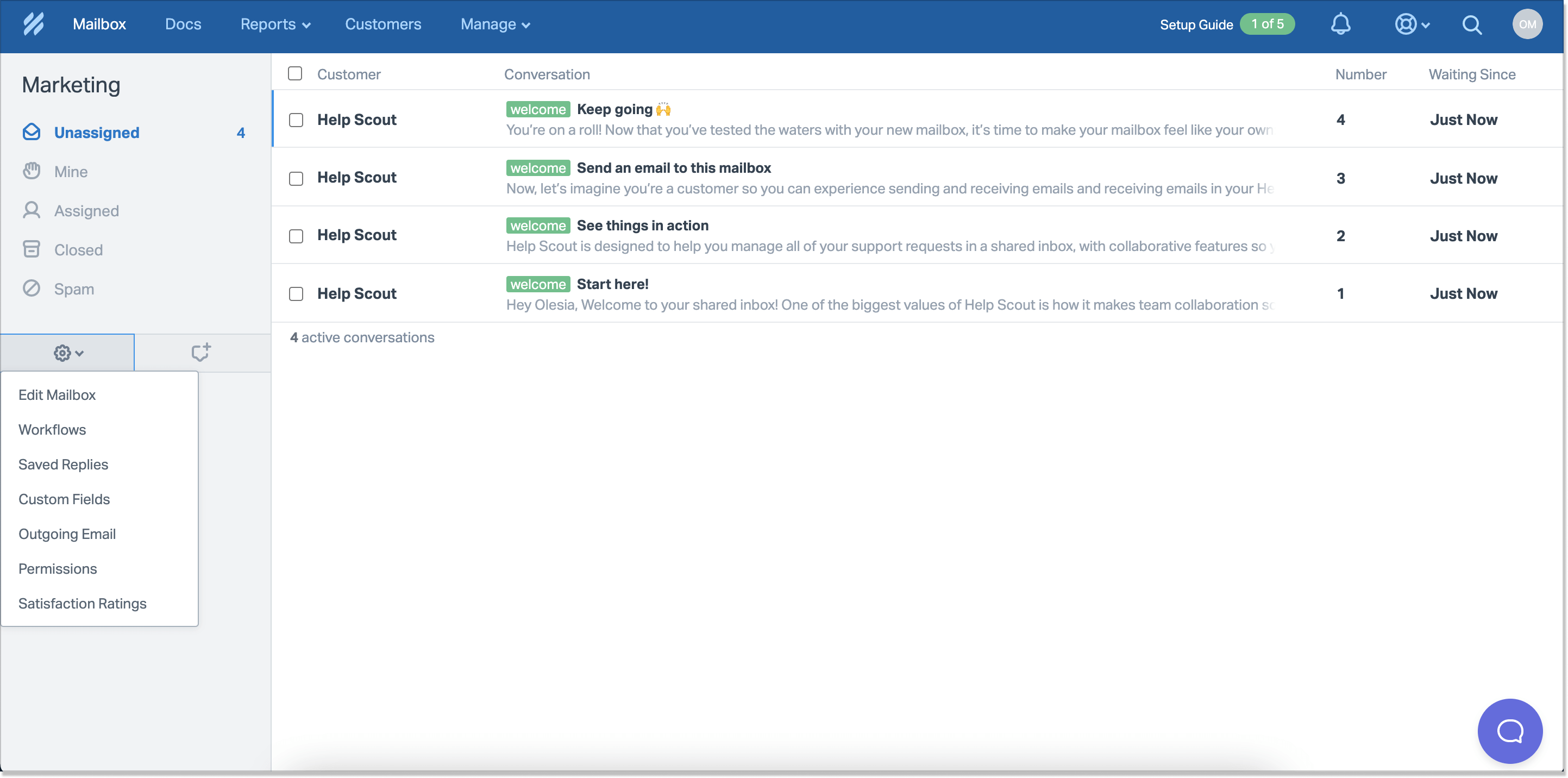 HelpScout mailbox