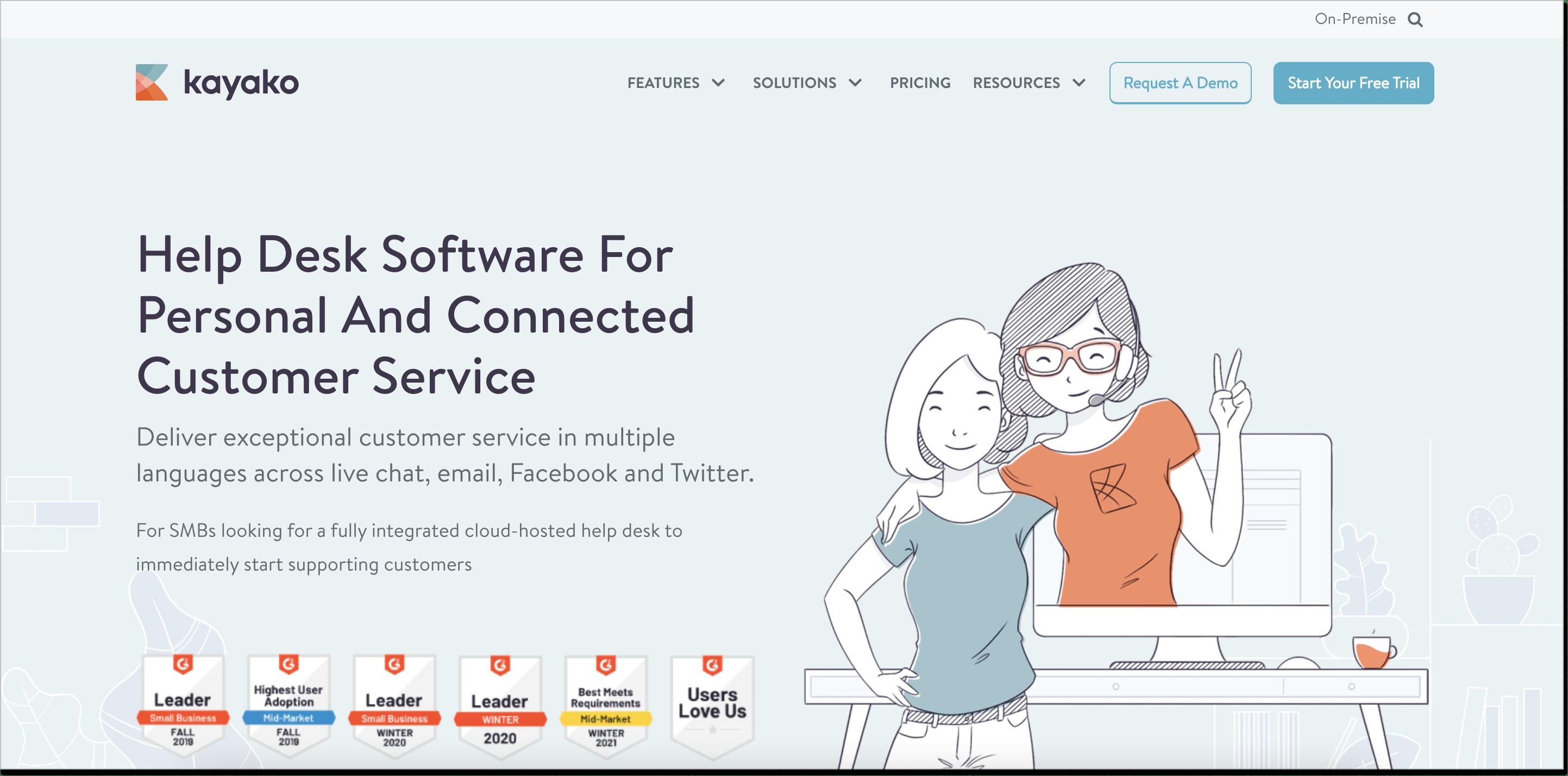 Kayako homepage