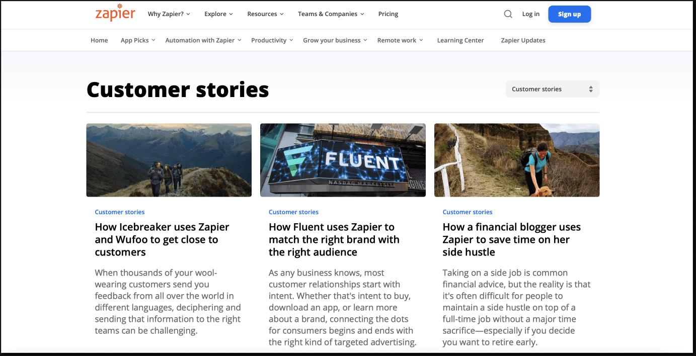 Zapier-customer-stories