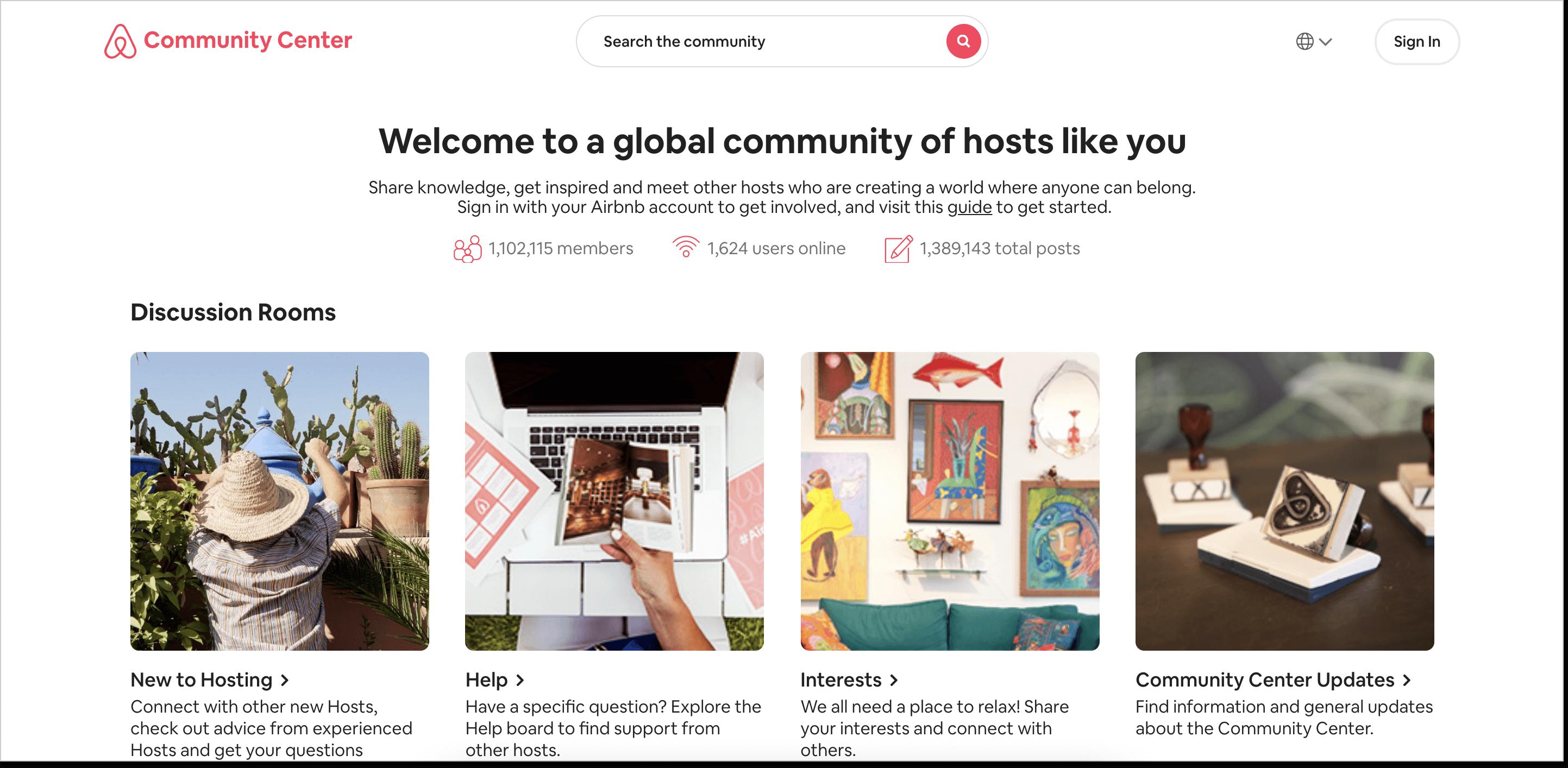 Airbnb community forum