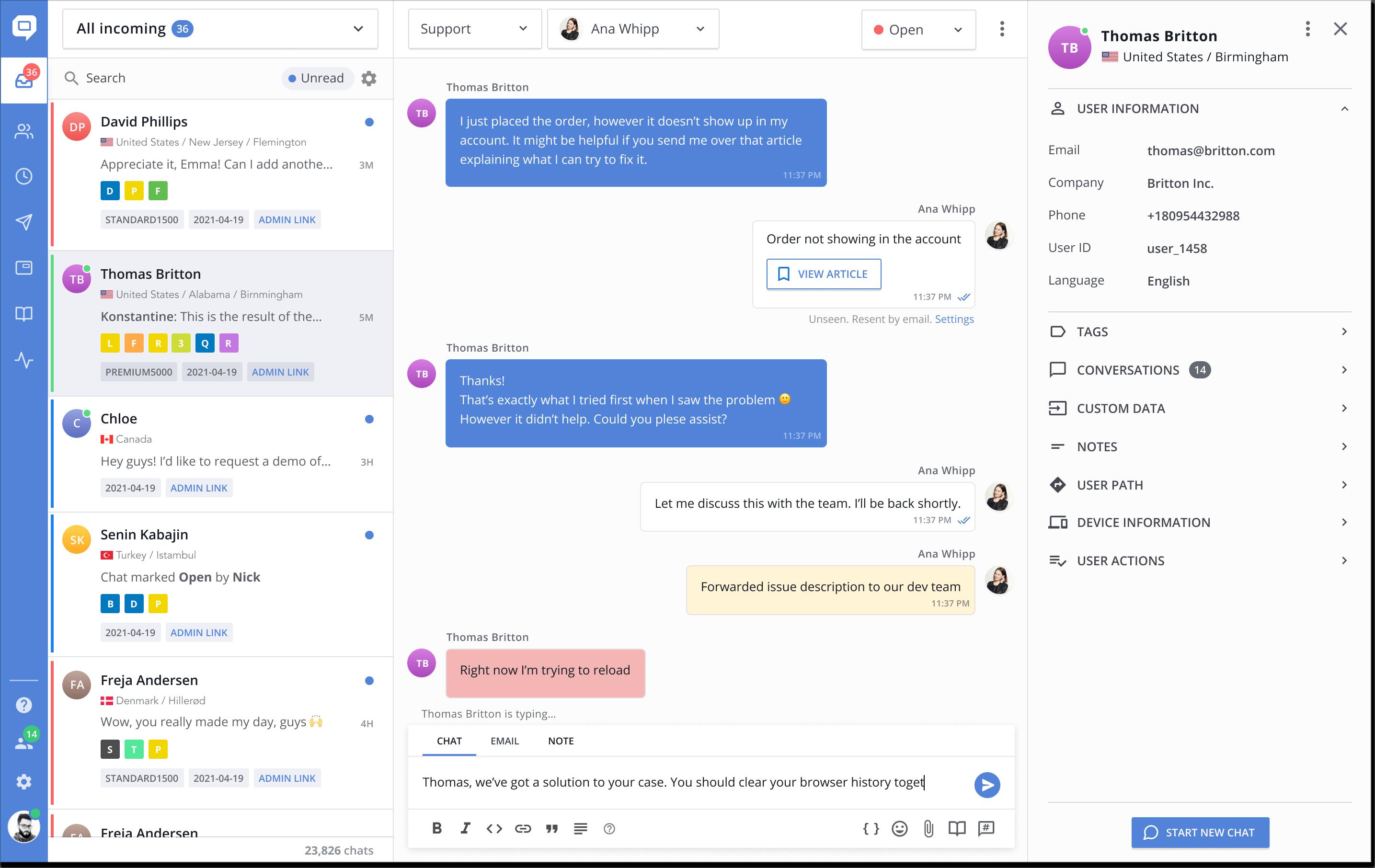 helpcrunch updated inbox design