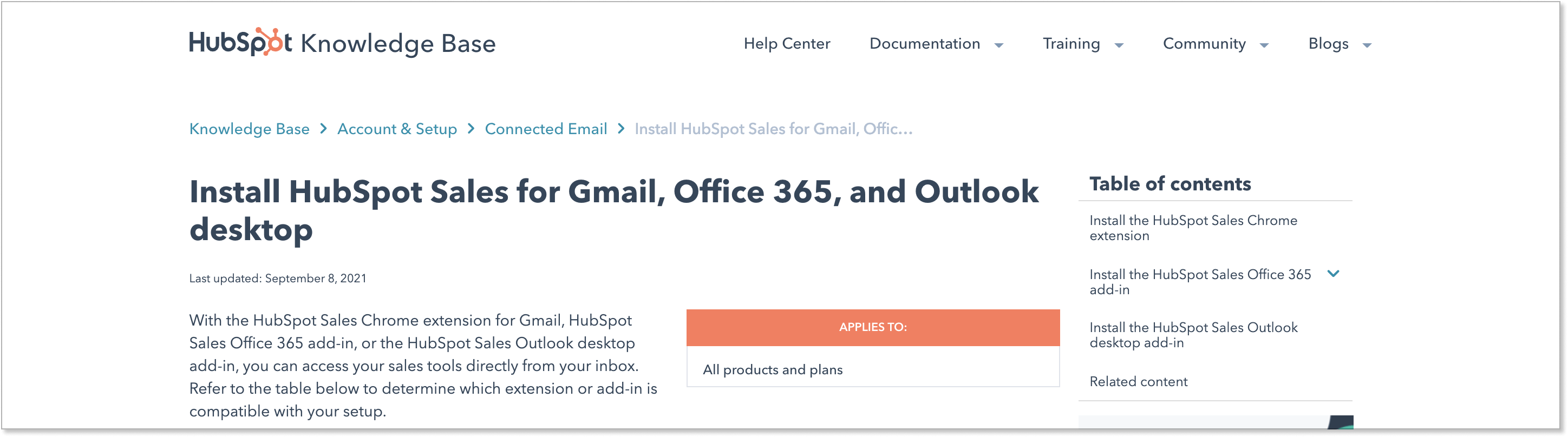 Hubspot's installation guide for mail agents