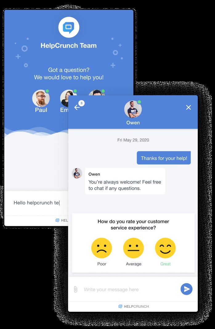 Live Chat | HelpCrunch